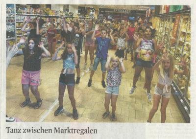 Flashmop im Supermarkt